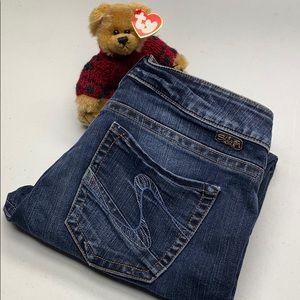 Womens Silver Jeans Suki Capri 28x26 @vintage